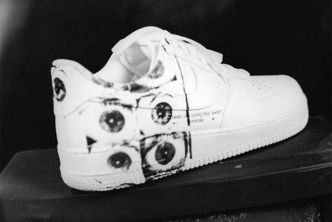 Supreme X Comme Des Garçons Shirt X Nike Air Force 14