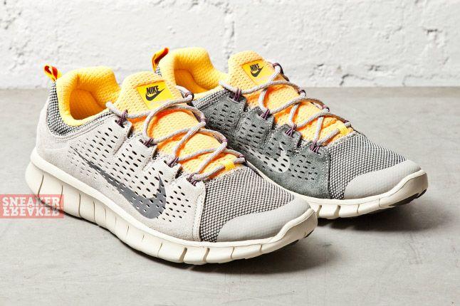 Nike Free Powerlines Ii Lthr Grey Laser Orange 3