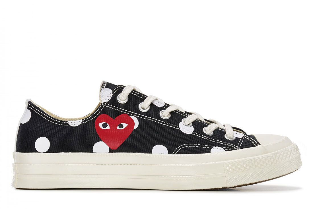 Comme Des Garcons Converse Chuck 70 Low Black Dots Lateral