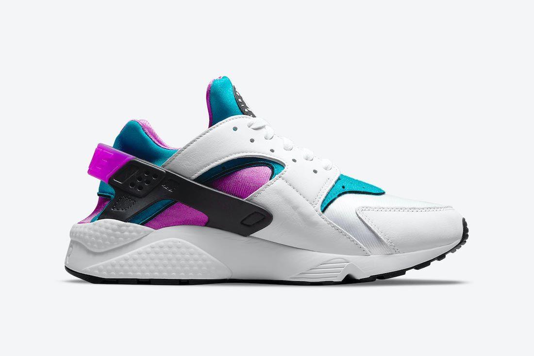 Nike Air Huarache White/Aquatone/Deep Magenta/Black