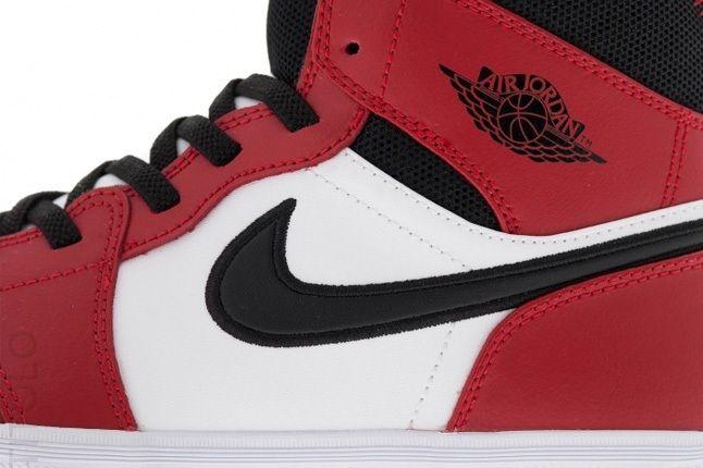 Air Jordan1 Skinny High Gymred Blk Wht Midfoot Detail 1