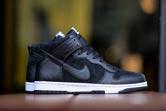 Nike Dunk Cmft Croc Blackwhite 3