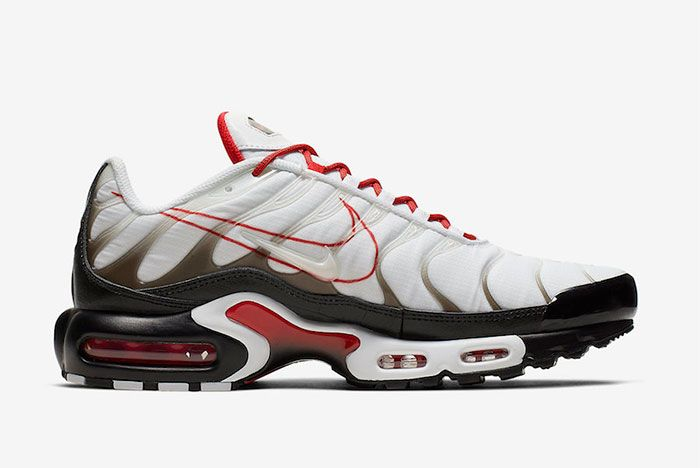 Nike Air Max Plus Black University Red Right