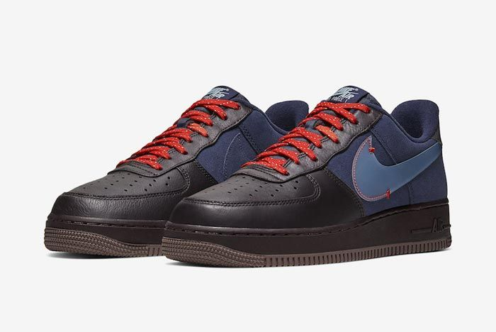 Nike Air Force 1 Burgundy Ash Celestine Blue Pair