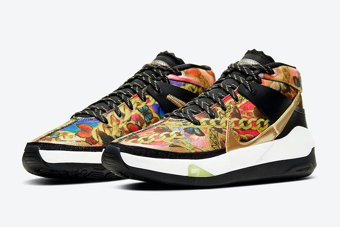 Nike Kd 13 Butterflies And Chains Ci9948 600 Front Angle