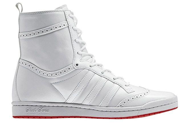 Adidas Top Ten High Sleek Brogue White Profile 1