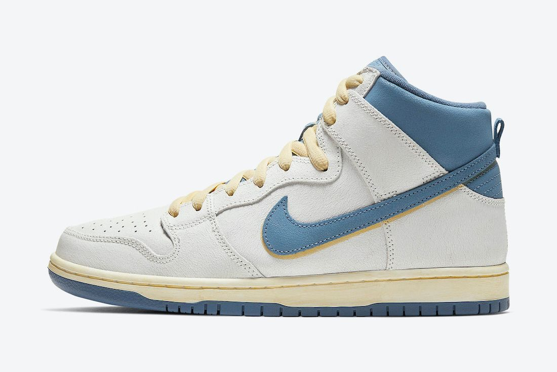 Atlas x Nike SB Dunk High 'Lost at Sea' on white