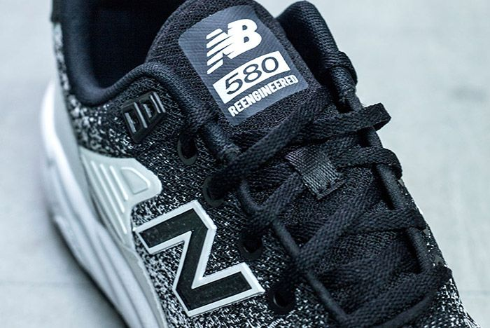 New Balance Mrt 580 Jr Reengineered Knit Black White 3