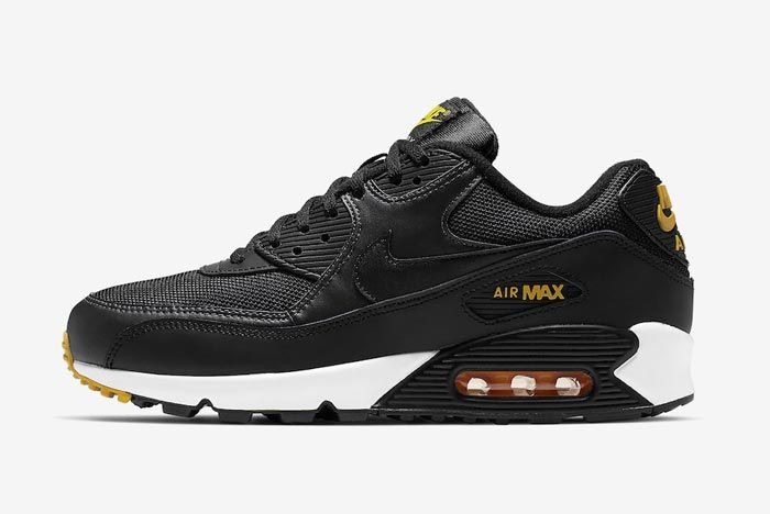 Nike Air Max 90 Black Yellow White Lateral