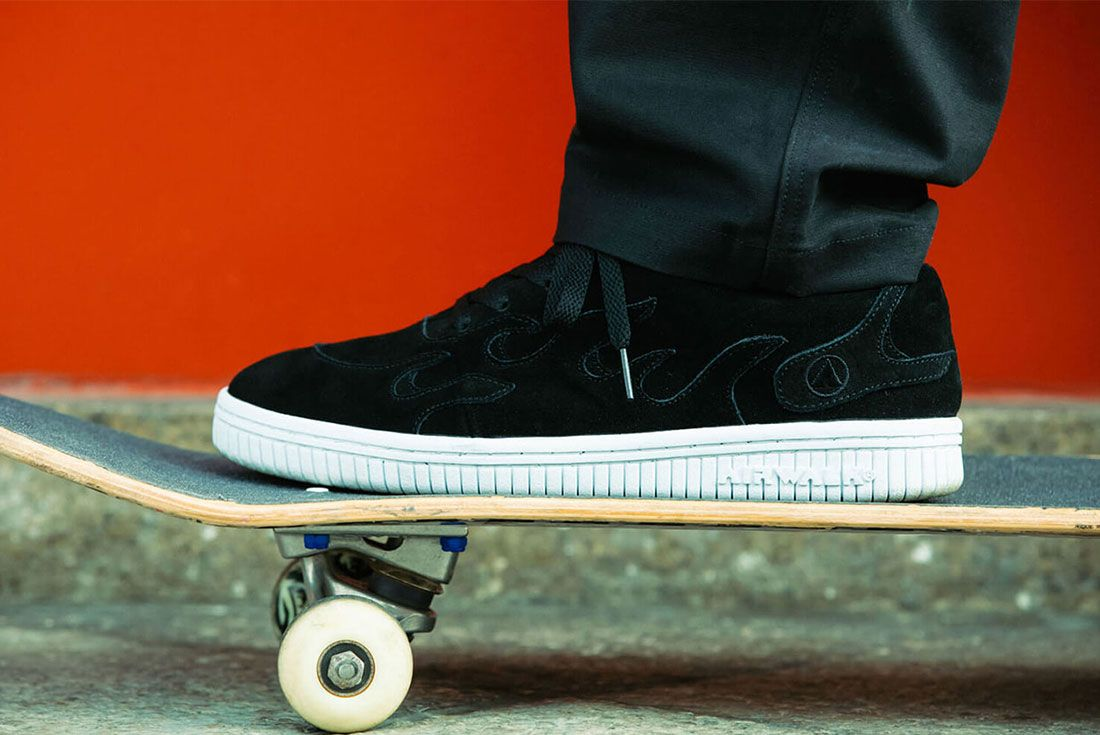 Cluct Airwalk Mita Sneakers Collaboration Collection Release Info 7 Side Shot On Skateboard