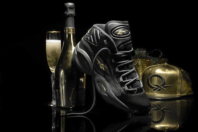 Reebok Question Black Gold New Years Eve Champagne 1