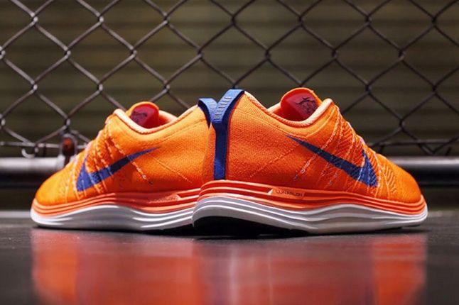 Nike Lunar Flyknit Org Blu Heel Profile 1