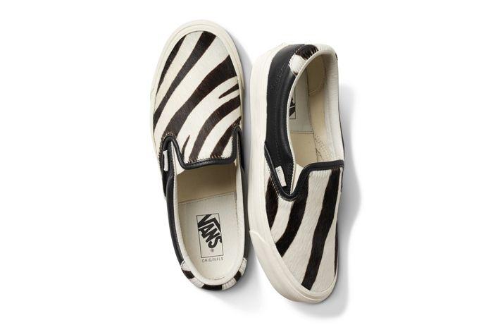Vans Pony Hair Slip On Zebra H