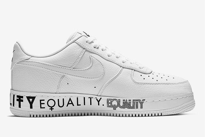 Nike Air Force 1 Equality Aq2118 100 Medial Side Shot