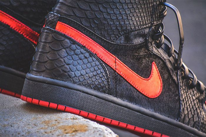Elon Musk Air Jordan 1 Dm Custom Sneakers Close Up Side Shot 2