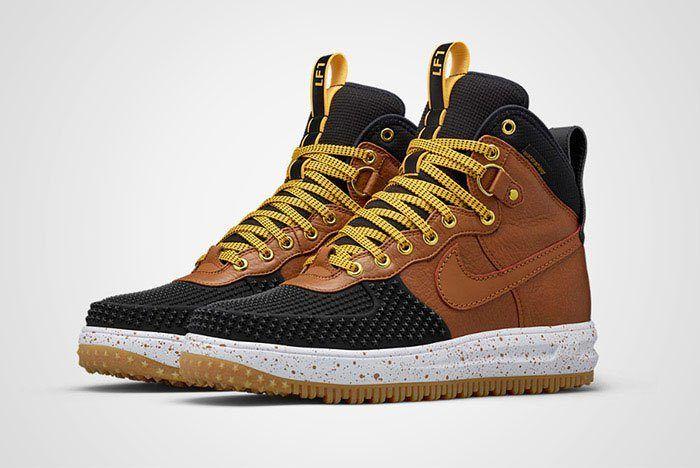 Nike Lunar Force 1 Duckboot Black Brown Thumb