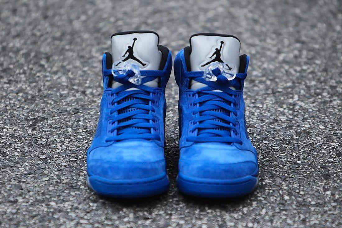 Air Jordan 5 Blue Suede 8