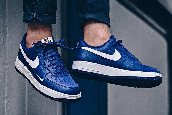 Nike Air Force 1 Mini Swoosh Deep Royal Blue 2