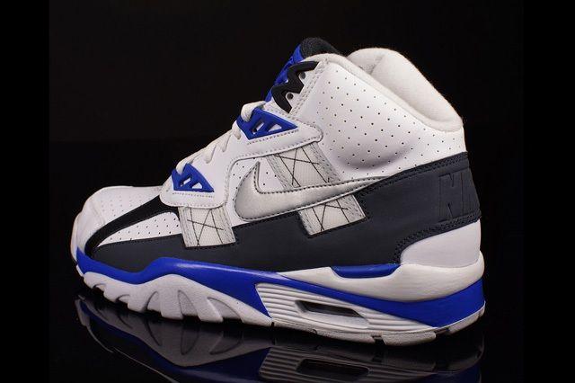 Nike Air Trainer Sc High Metallic Platinum Cobalt Blue 1