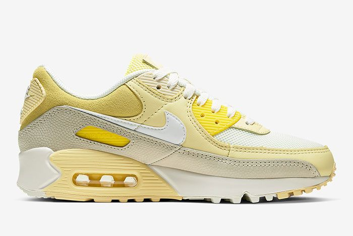 Nike Air Max 90 Lemon Cw2654 700 Lateral Side Shot