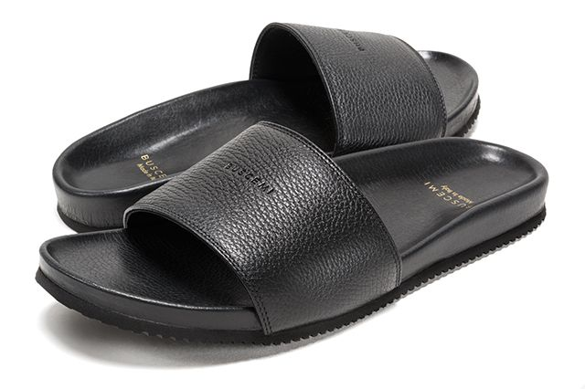 Buscemi Calfskin Leather Slides