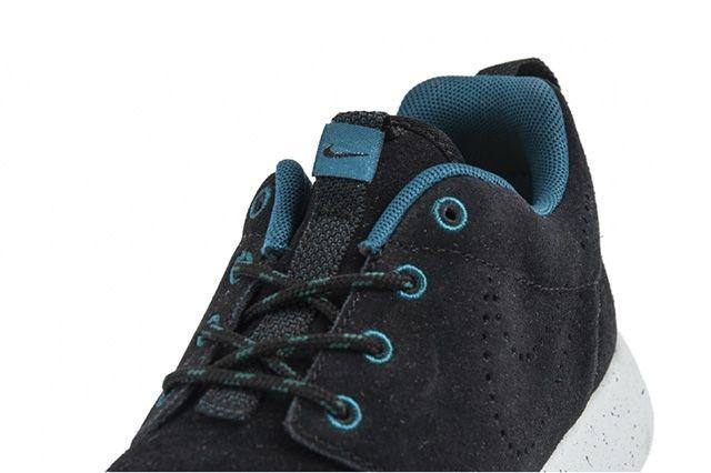 Nike Roshe Run Black Suede Perf Swoosh