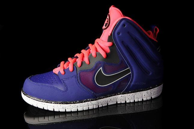 Nike Dunk High Free Blue Pink Profile 1