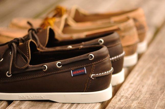 Sebago Boat Brown Leather Heel Hero 1