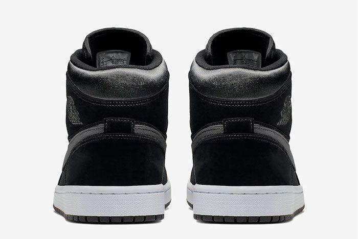 Air Jordan 1 Mid Black Grey 852542 012 Heel Shot