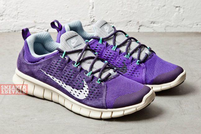 Nike Free Powerlines Ii Ltr Purple Dynasty Geyser Grey 2