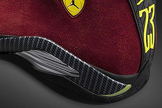 Air Jordan Xiv Red Suede Closeup5