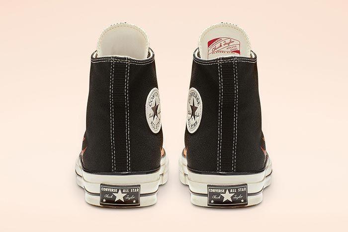 Converse Chuck 70 Flames Black High Heel Shot