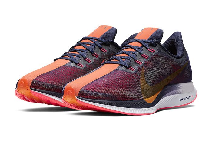 Nike Zoom Pegasus Turbo Blackened Blue Orange Peel 1