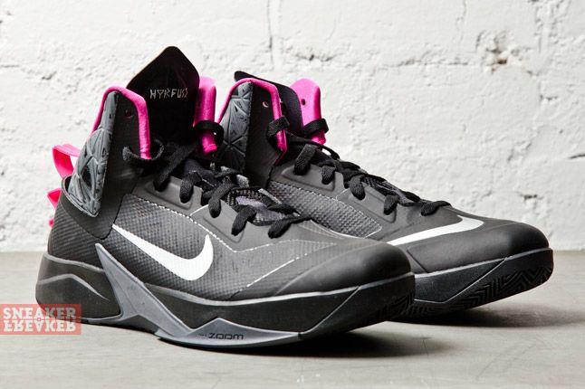 Nike Zoom Hyperfuse 2013 Xdr Black Metallic Silver Pink 2