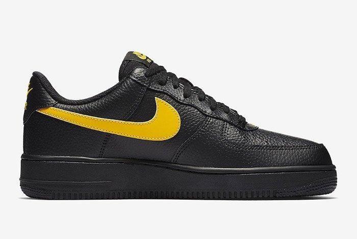 Nike Air Force 1 07 Lv8 Black Amarillo 4
