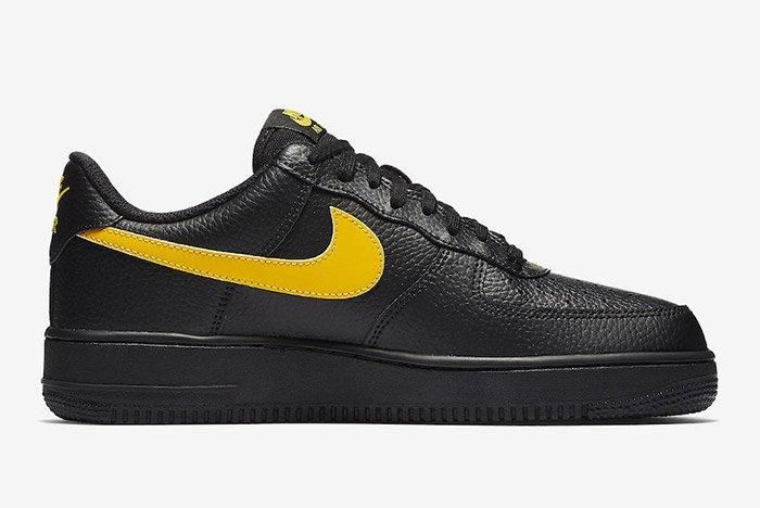 Nike Air Force 1 07 Lv8 Black Amarillo 4