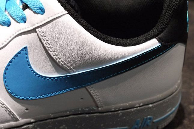 Nike Air Force One Low Grey Speackle Quater Swoosh 1