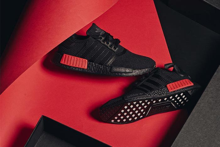 Adidas Nmd R1 Core Black Lust Red 6