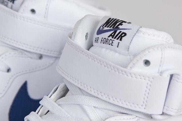 Nike Af1 Mid 07 White Blue Legend 3