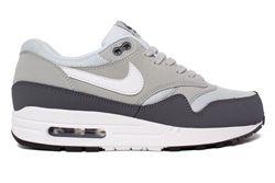 Nike Air Max 1 Essential Dark Grey White Silver Pure Platinum 1 Thumb