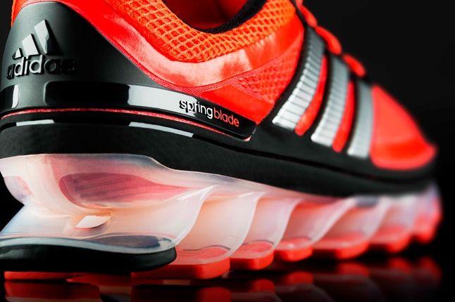 Adidas Springblade Red Black Heel Detail 1