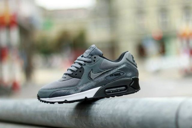 Nike Wmns Air Max 90 Pure Platinumdark Grey Black