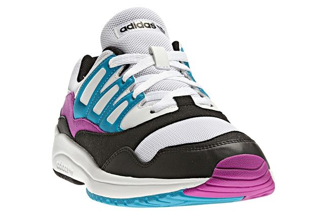 Adidas Torsion Allegra Grey Pink Blue Single Angle 1