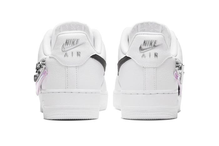 Nike Air Force 1 White Zippered Swoosh Heels