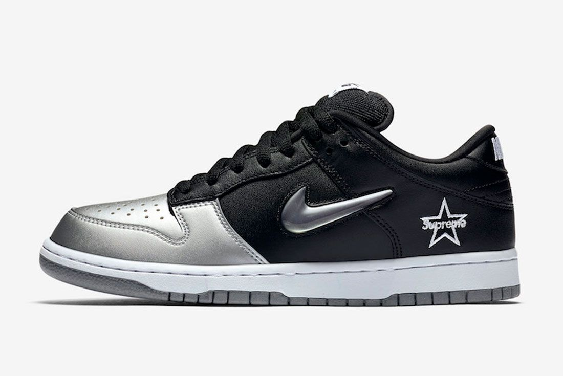 Supreme Nike Sb Dunk Low Metallic Silver Ck3480 001 2019 Release Date Side