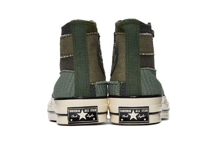 Converse Patchwork Chuck 70 High Sneakers Green Rear