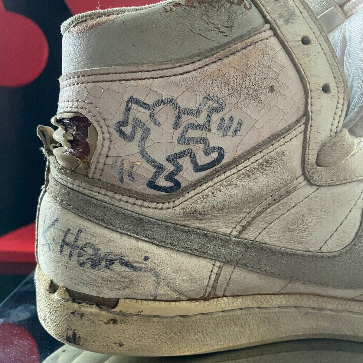 Nike Penetrators Hand-Drawn and Signed by Keith Haring From 1986