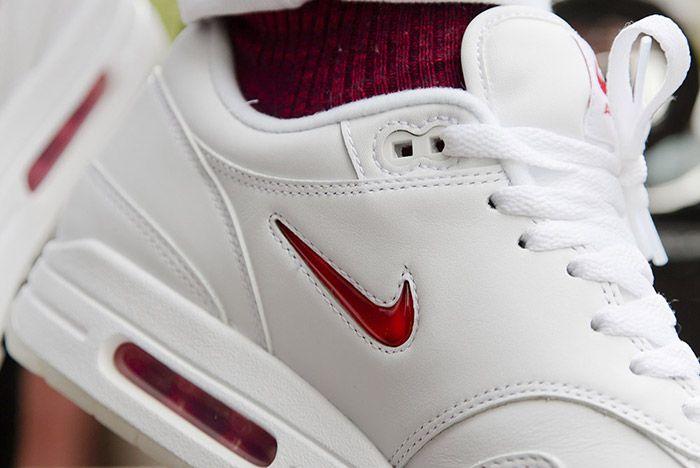 Nike Air Max 1 Jewel White Red 5