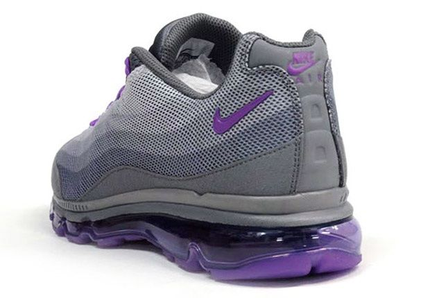 Nike Wmns Air Max 95 Dynamic Flywire Purple Grey Reverse Angle 1