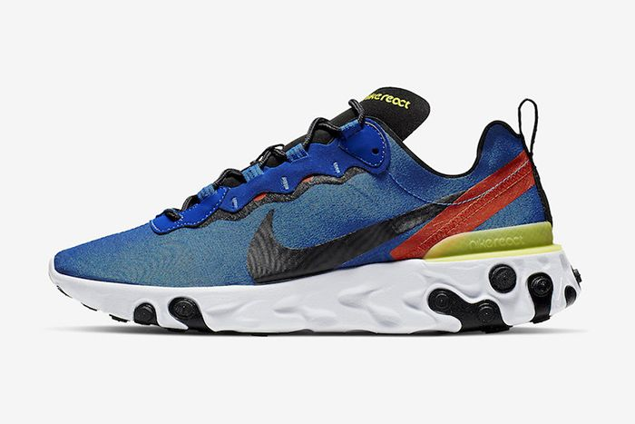 Nike React Element 55 Game Royal Bq6166 403 Release Date Lateral